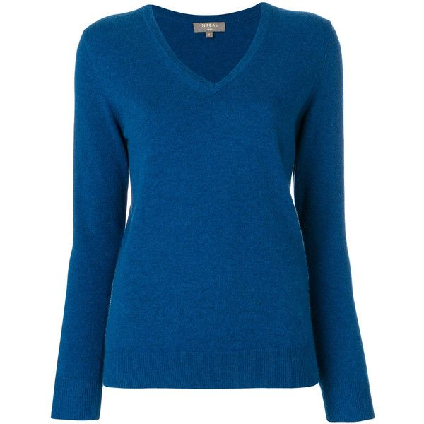 cashmere V-neck jumper - Blue N.Peal Clearance Fake Good Selling Cheap Price PKZ6CLH