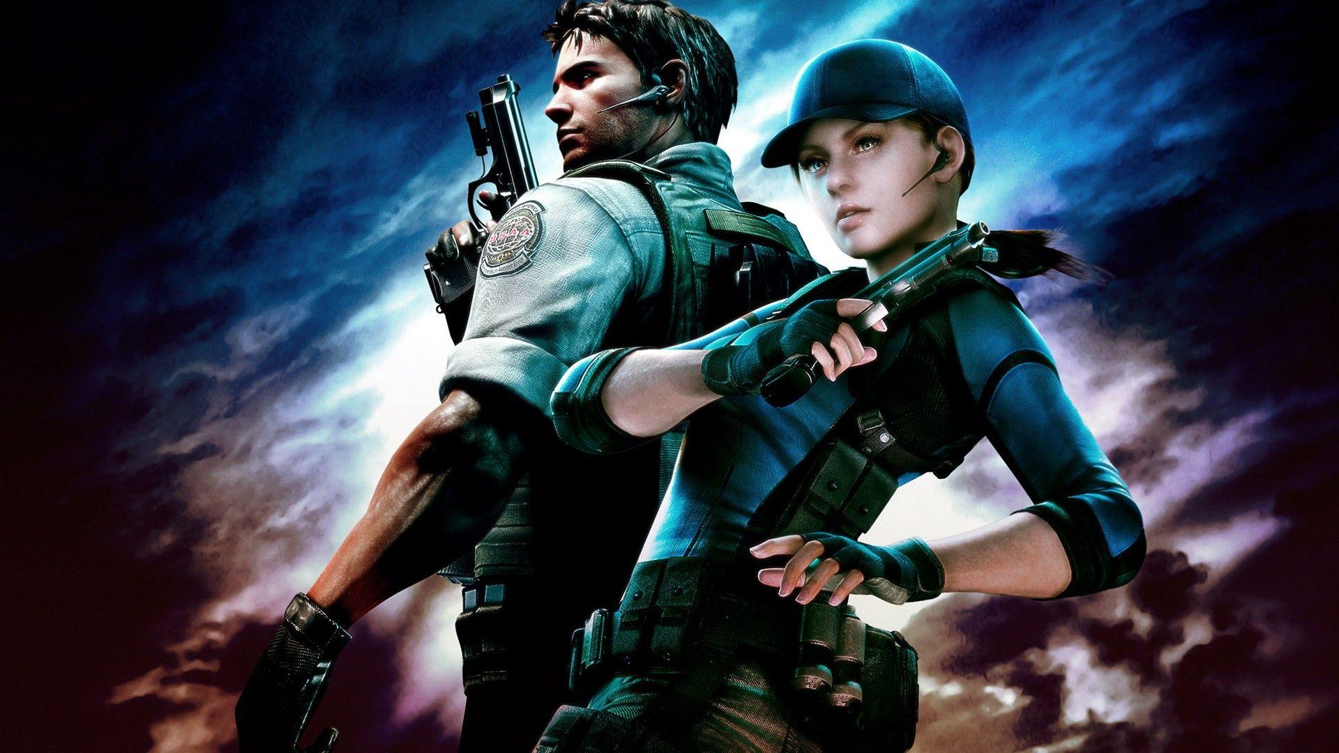 BSAA Operatives:Valentine, Jill. Redfield, Chris.   Resident evil game,  Resident evil 5, Resident evil