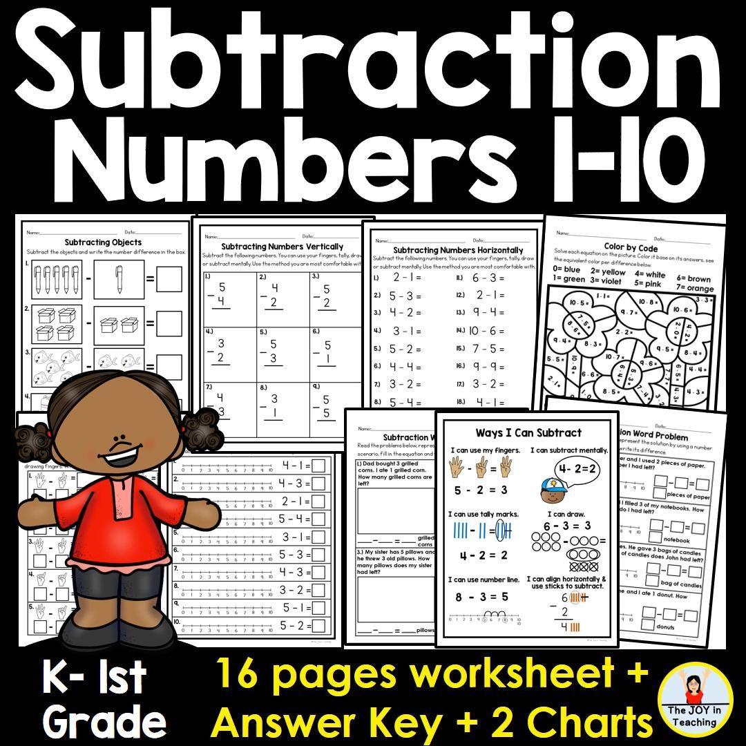 Subtraction Numbers 1 10 Worksheet Video Video In 2021 Addition And Subtraction Practice Kindergarten Math Center Subtraction Practice Jump strategy addition worksheets year 4