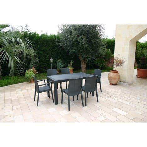 Salon de jardin URANO 6 personnes | Mobiliers | Pinterest ...