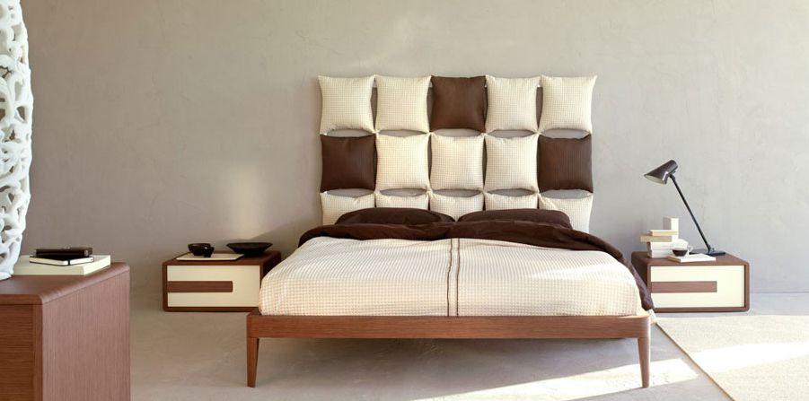 Cabecero acolchado cuadros bicolor decoracion cabeceros - Cabeceros acolchados cama ...