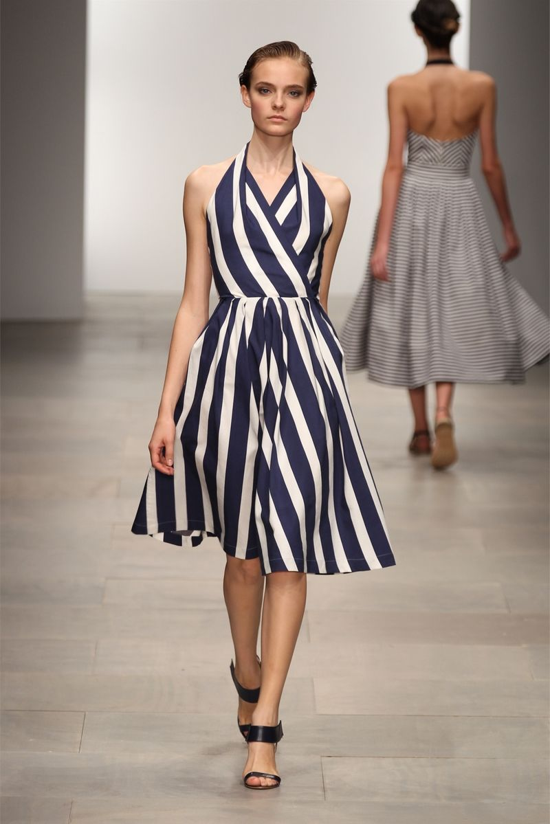 Pin By Gatearra Council On Spring And Summer Fashion Dresses Striped Fabrics