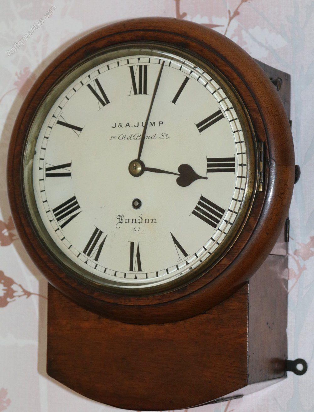 Antiques Atlas J A Jump 8 Inch Drop Dial Wall Regulator Clock Antique Wall Clocks Clock Vintage Alarm Clocks