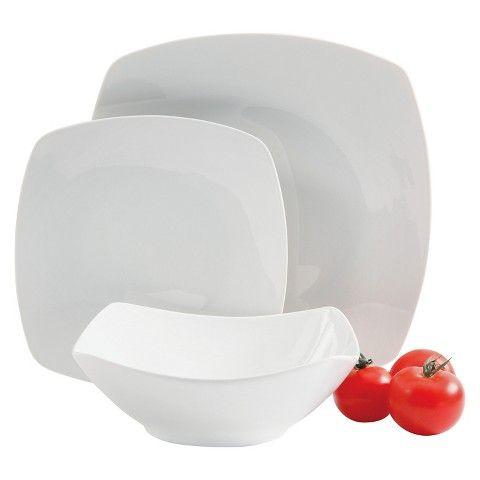 Gibson Select Zen Ceramic 12pc Dinnerware Set White  sc 1 st  Pinterest & Gibson Select Zen Ceramic 12pc Dinnerware Set White | Dinnerware and ...