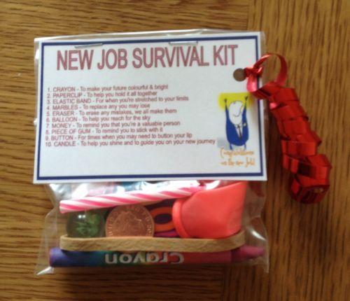 New Job Survival Kit Gift For New Job New Career
