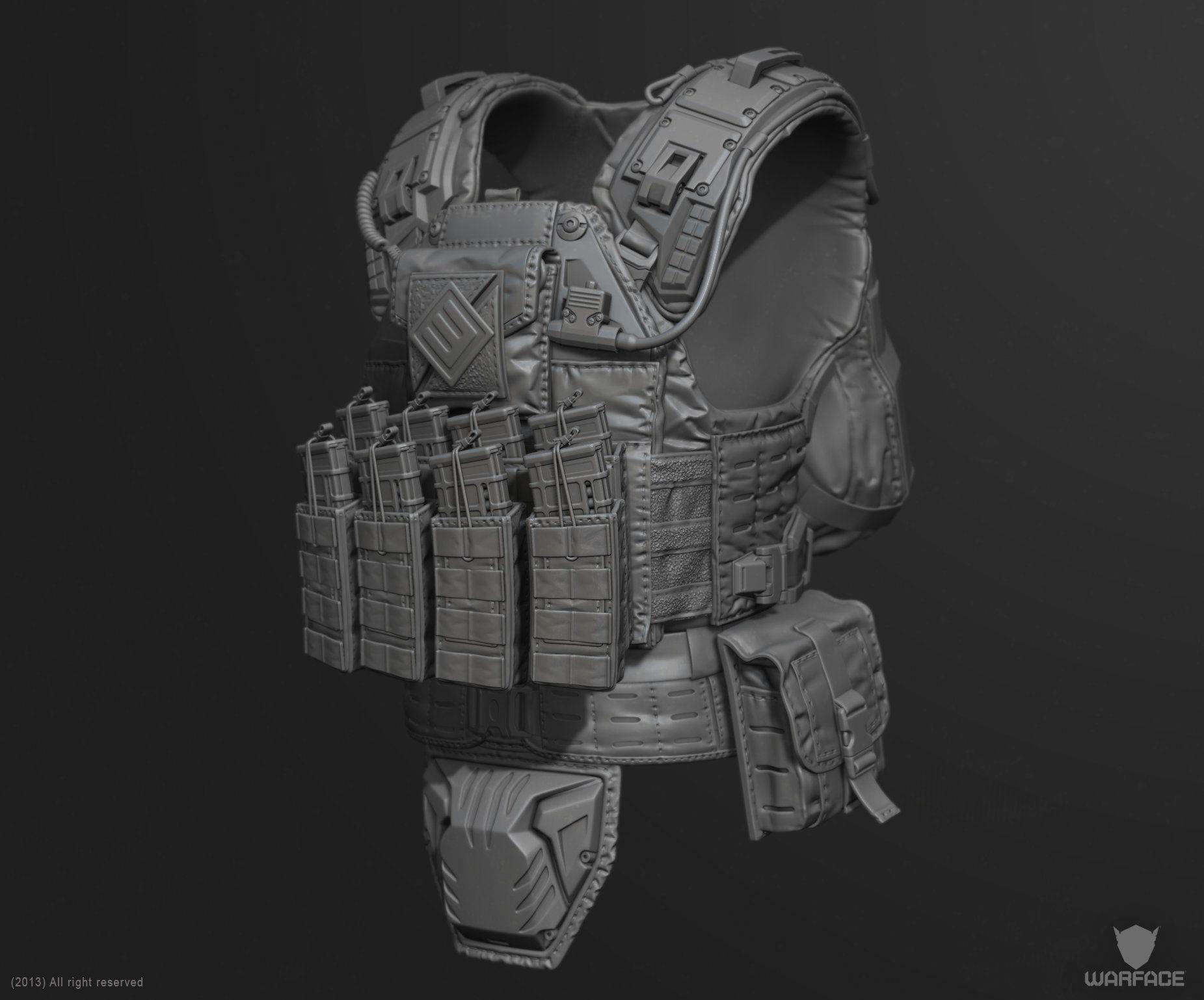 Artstation New 3d Model For Crytek Soldier Vest Denis