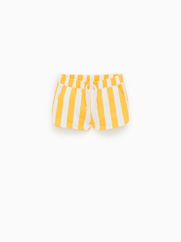 BabyGap Girls Bright Orange Shortie Shorts 5
