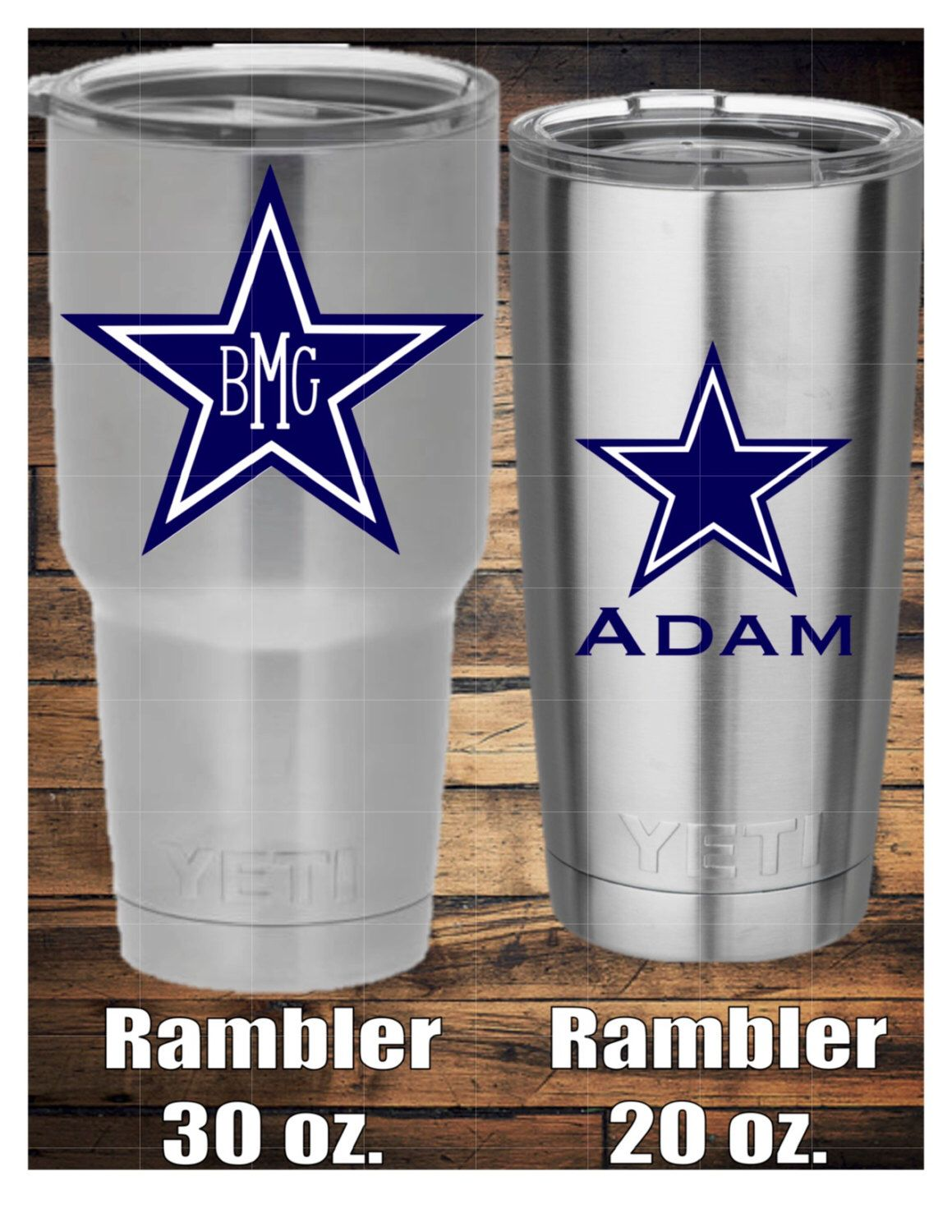 Dallas Cowboy Yeti Decal By TheCraftyAggie On Etsy Httpswww - Jeep vinyls for yeti cups