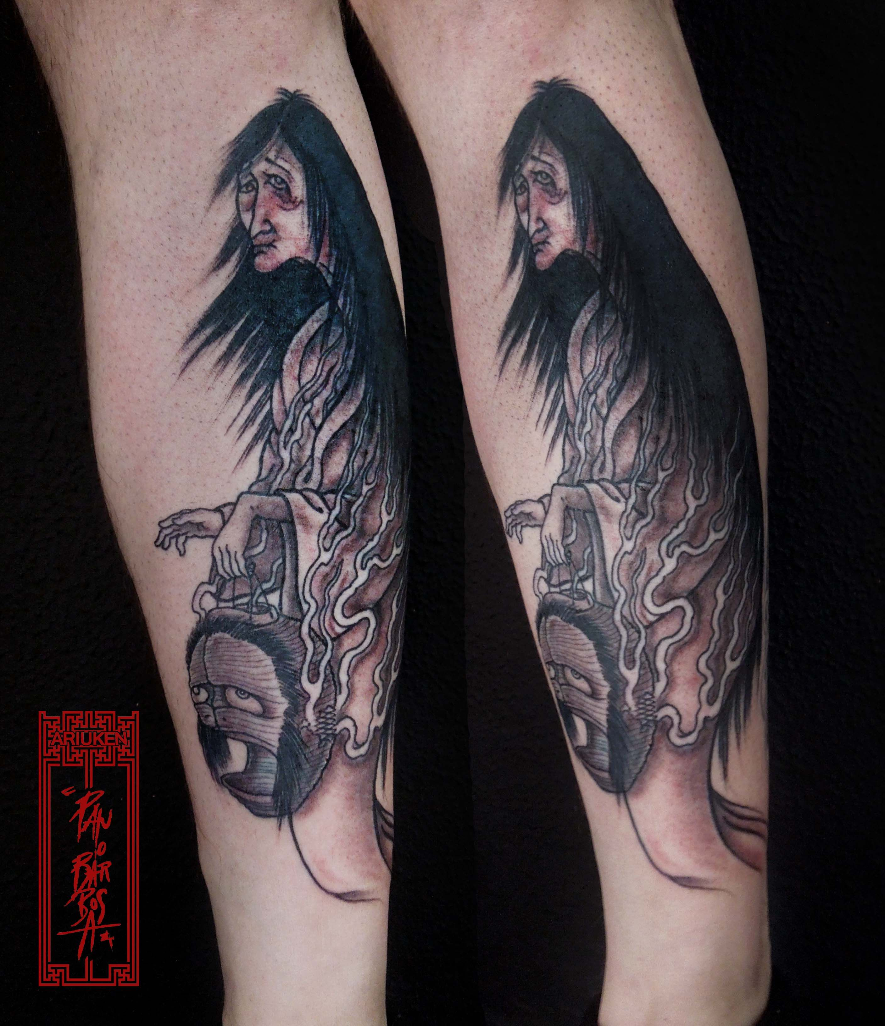 'Ghost and Yokai Paper Lantern' Tattoo Art by Paulo ...