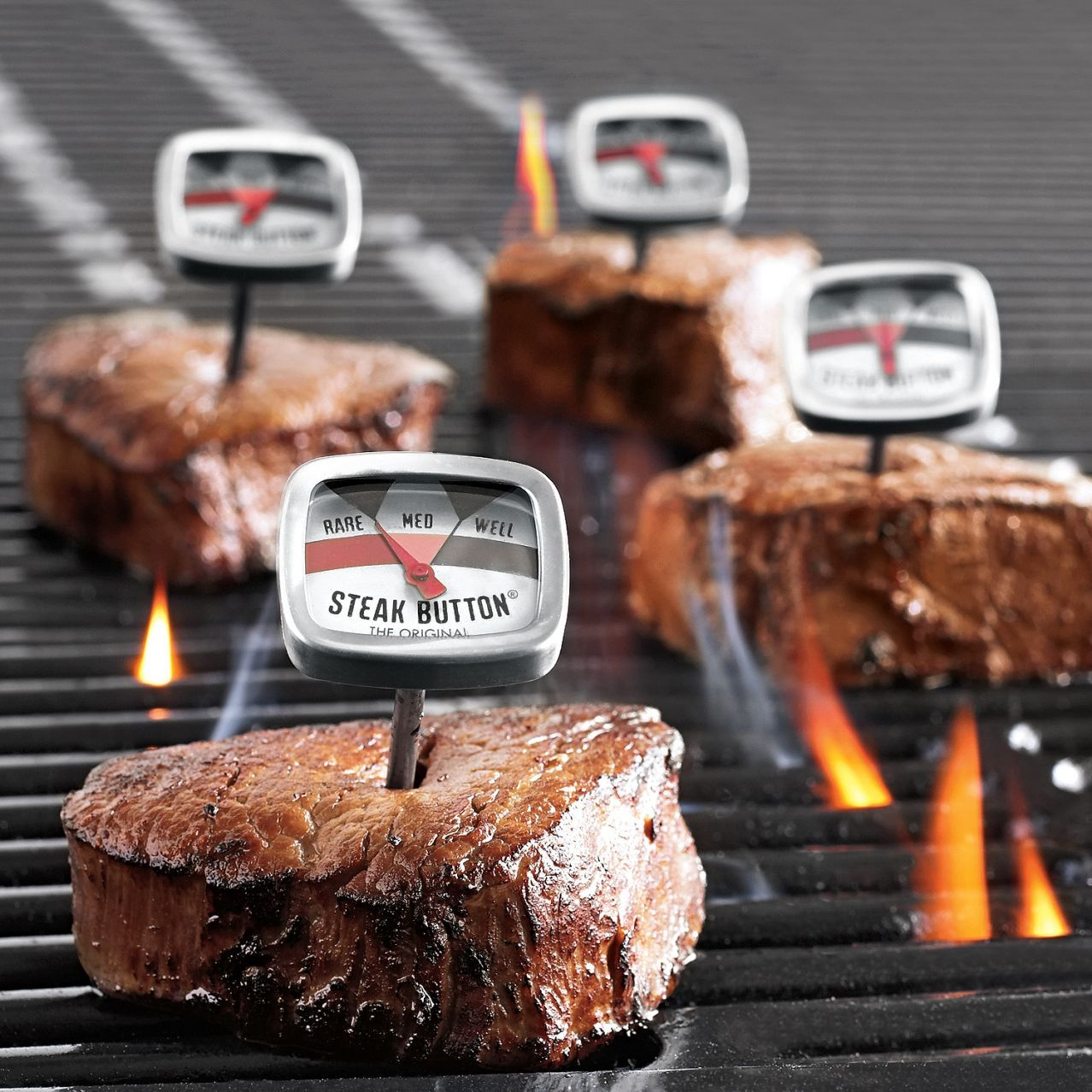 Steak Button Thermometers From Sur La Table.   Awesome Idea, No Need To  Touch