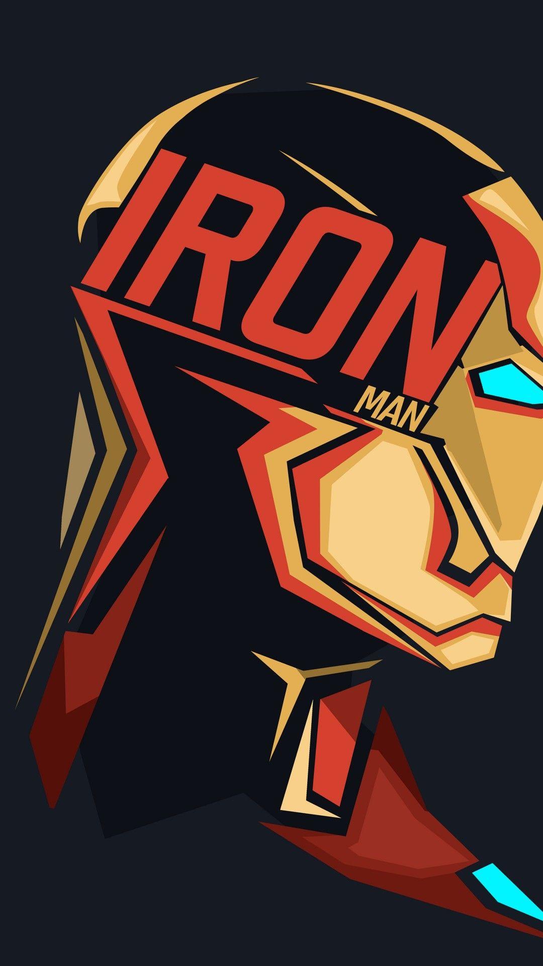 Iron Man Profile View Minimal Design Marvel Iron Man Marvel Heroes Iron Man
