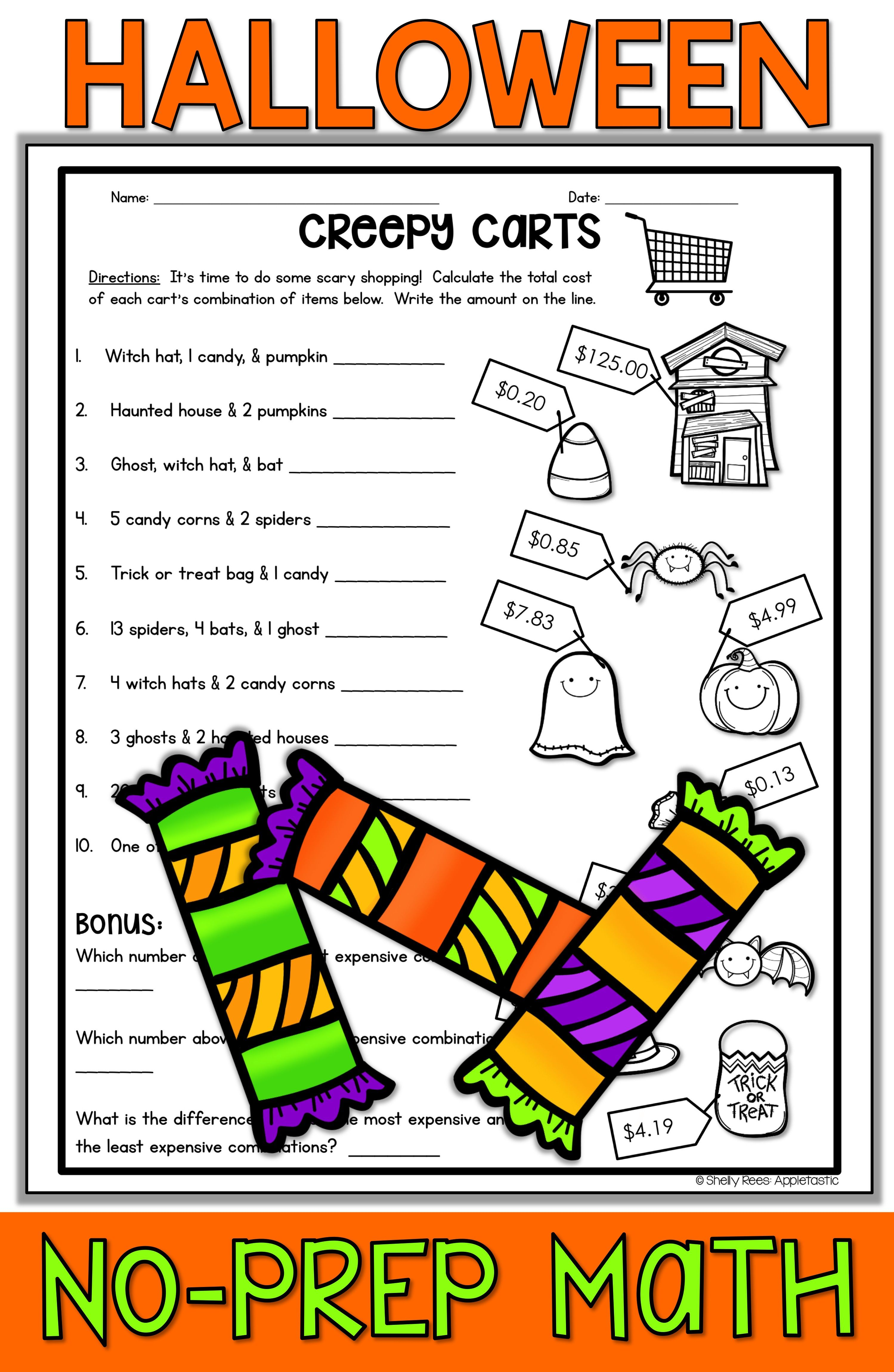 Halloween Math activities are fun and easy for teachers looking for  Halloween printable ideas fo…   Halloween math worksheets [ 4599 x 2998 Pixel ]
