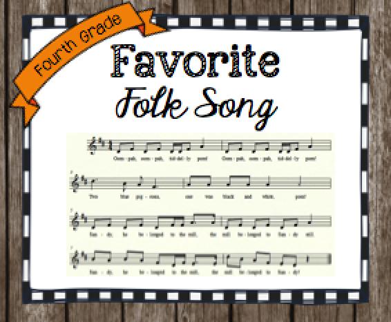 Fourth Grade Favorite Folk Song