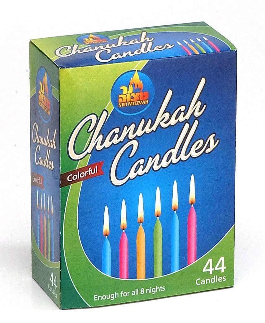 Ner Mitzvah Chanukah Candles Colorful - 44 Ct, 1 Pack ** Visit the image link more details.
