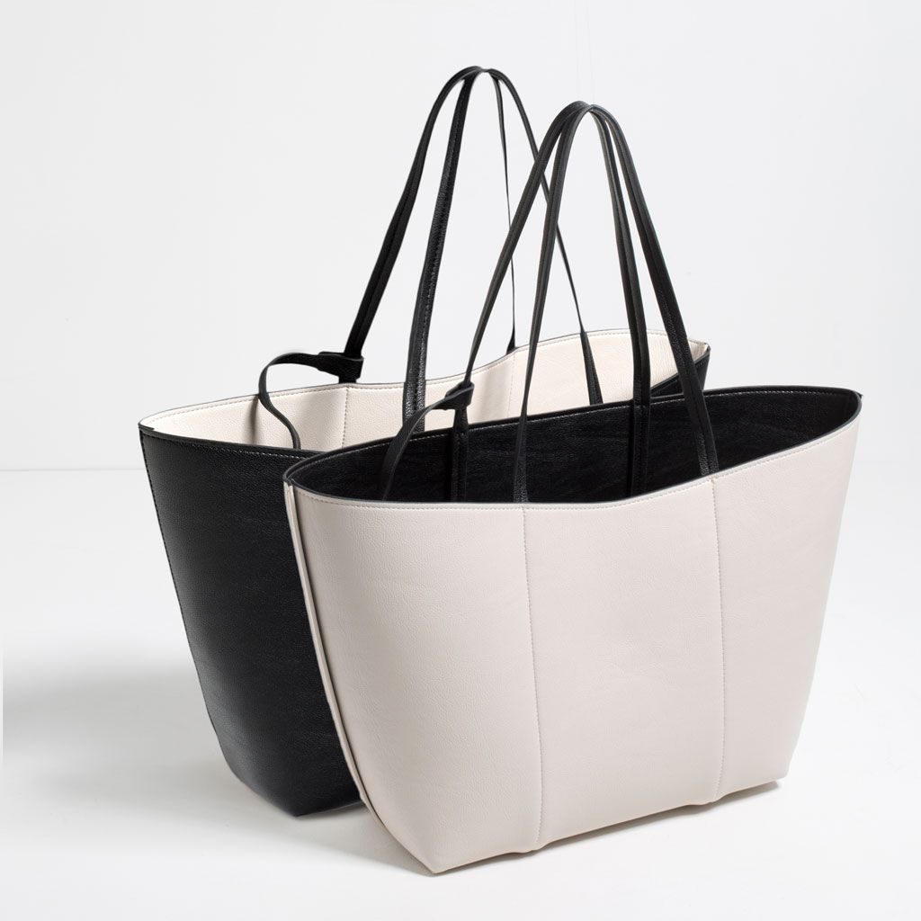 Mini leather tote bag zara - Reversible Tote Bags Woman Collection Ss16 Zara United States