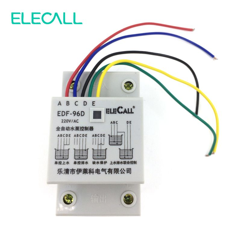 DF96D AC220V 5A Din Rail Mount Float Switch Auto Water Level Controller with 3 P