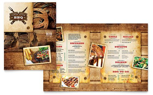 Steakhouse BBQ Restaurant Menu Template byLayouts Download – Free Cafe Menu Templates for Word