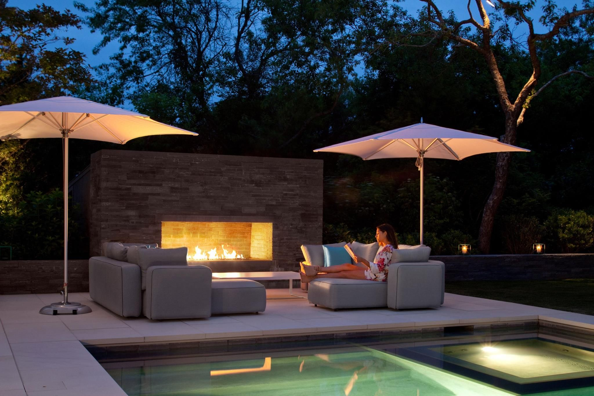Genial Poolside AND Fireside! TUCCI Umbrellas