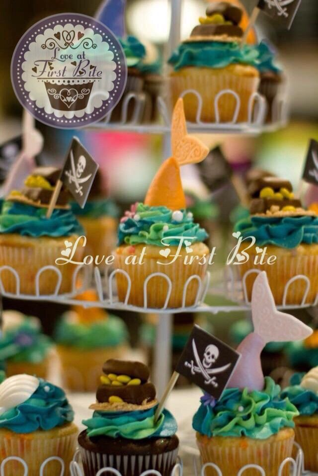Mermaid and Pirate Cupcakes by Love at First Bite in Nashville TN