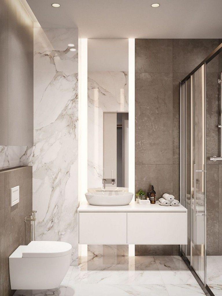 My Kind Of Room Luxurious Bathroom Lighting Banheiros Modernos Casas De Banho Cinzas Interiores