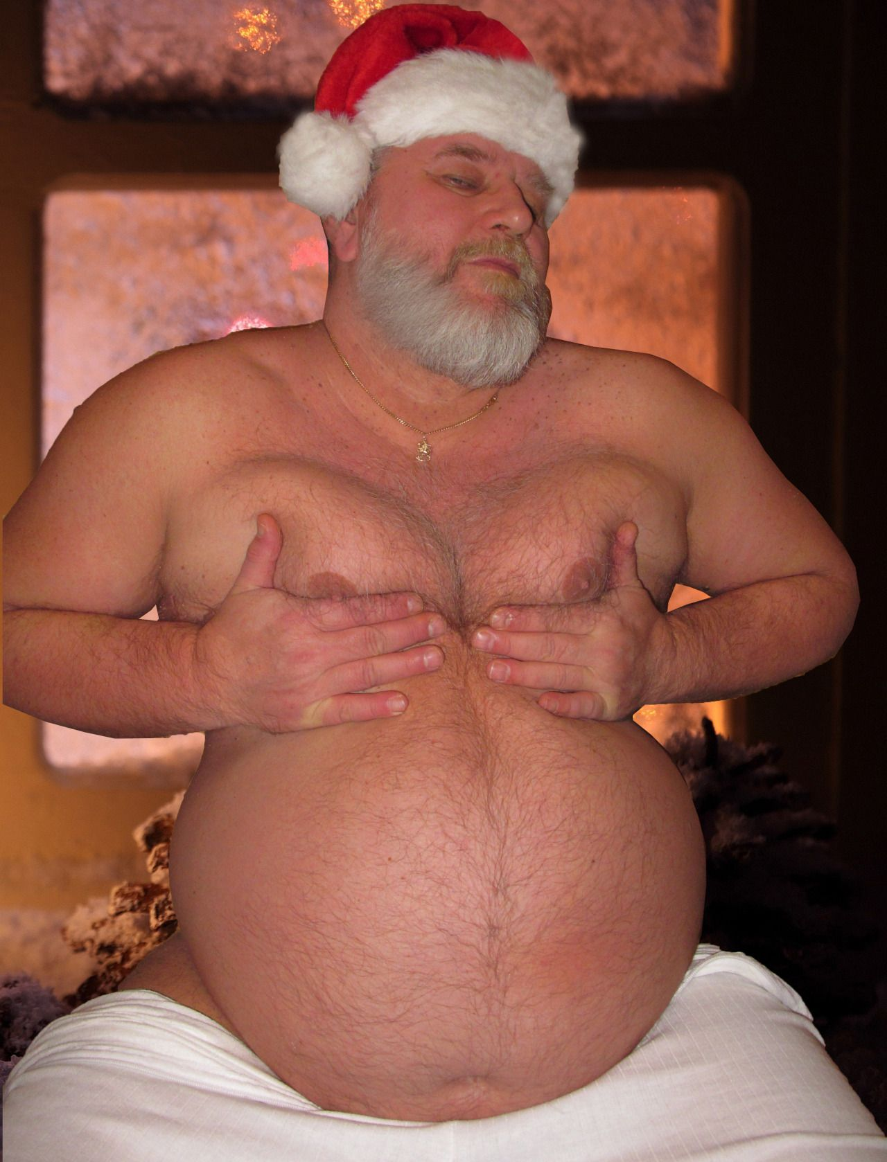Chubby santa gay