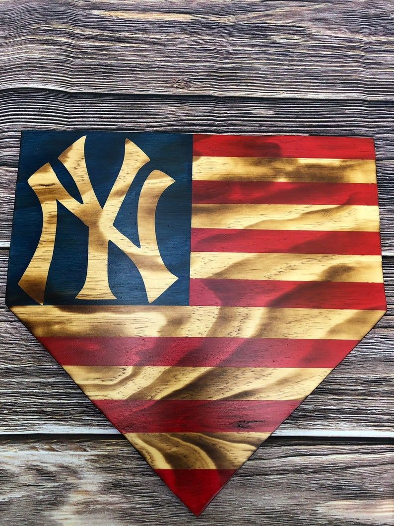 Customizable Baseball Homeplate American Flag Sign Etsy In 2020 American Flag Wood American Flag Painting Wooden Flag