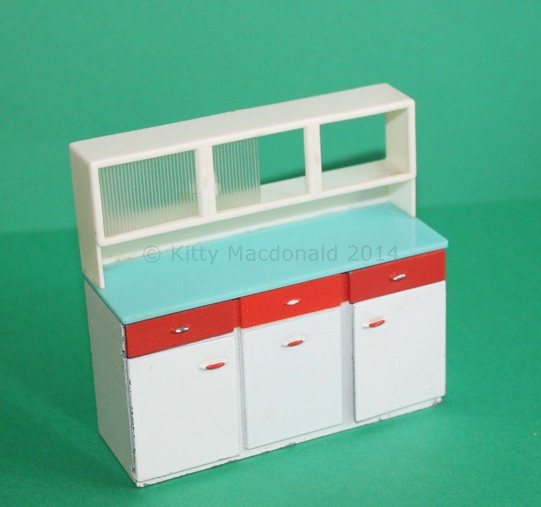 Vintage Dolls House Triang Kitchen Dresser Unit Ref KM8070 | eBay ...