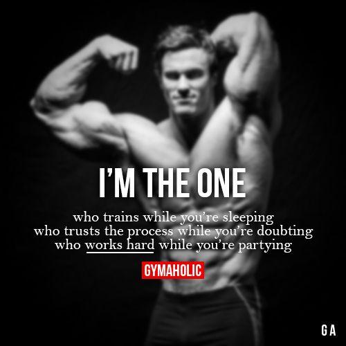I M The One Fitness Motivation Quotes Motivation Bodybuilding Motivation