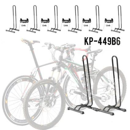 Amazon Com Adjustable 1 6 Bike Floor Parking Rack Storage Stands Bicycle Indoor Bike Storage Sports Outdoors Indoor Bike Storage Indoor Bike Bicycle
