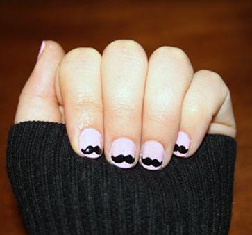 mustache nails :)