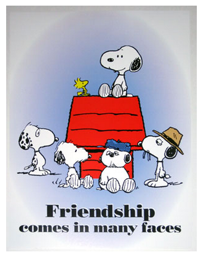 Friendship comes in many faces // Thank goodness for good friends. I lucky to have a few. - Kat =)