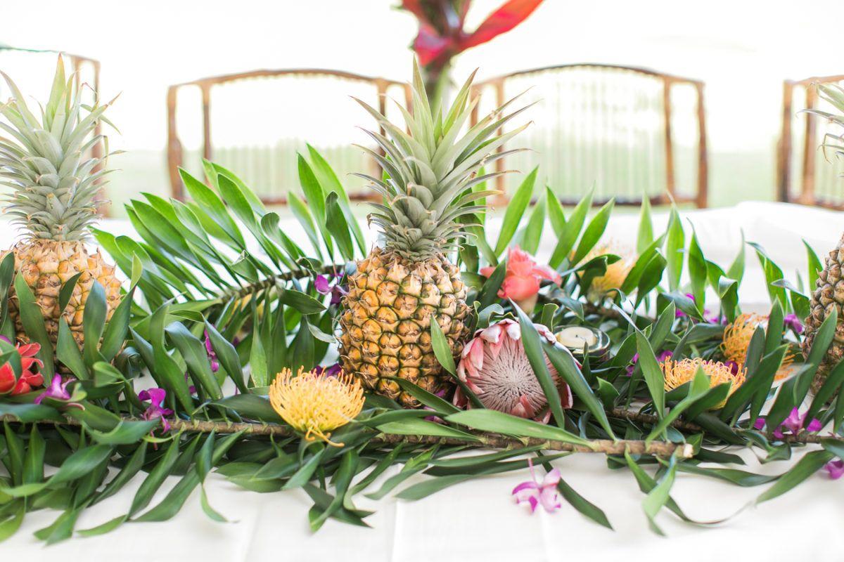 Tropical + Colorful Wedding in Kauai Botanical Garden in