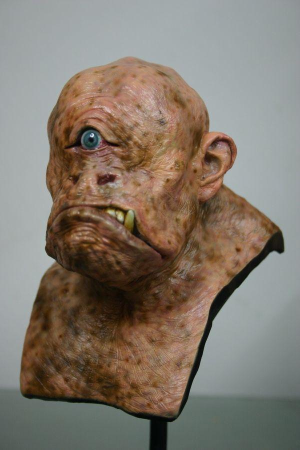 Cyclops bust painted by Caseylovedesigns.deviantart.com on @deviantART