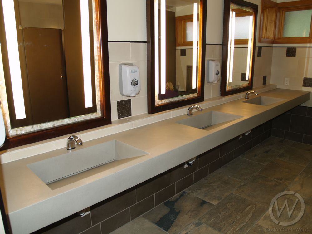 Concrete Restroom Sinks And Counters Kitchen Bathroom Remodel