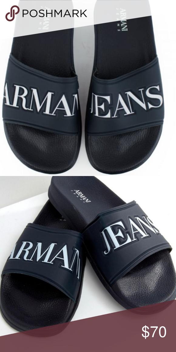 d585c9d8e5dac Armani Jeans Sliders Size 11 Navy Blue Armani Jeans Shoes Sandals   Flip- Flops