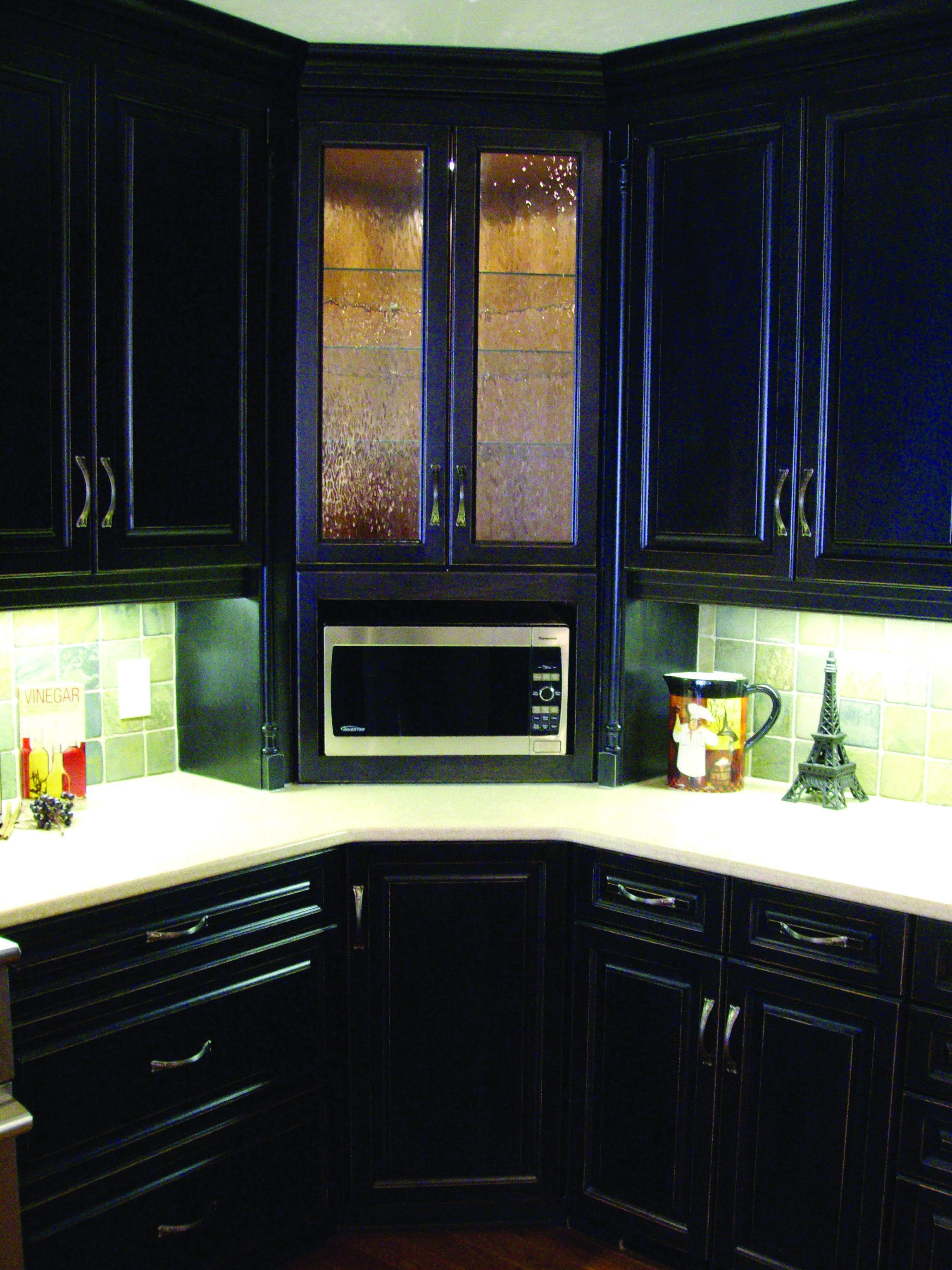 Homeeideas Com Built In Microwave Cabinet Microwave Cabinet Corner Kitchen Cabinet