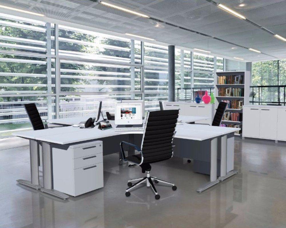 OLG Aero Height Adjustable 90 Degree Workstation U2013 Dunn Furniture