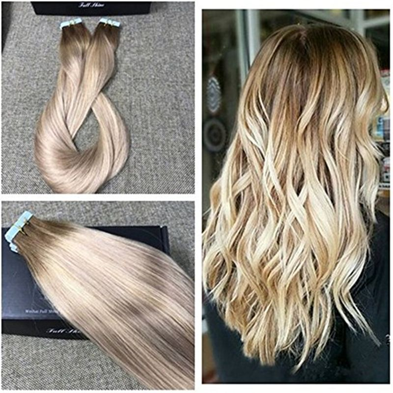 Full shine real human hair skin weft ombre color tape hair full shine real human hair skin weft ombre color tape hair extensions balayage color 3 pmusecretfo Gallery