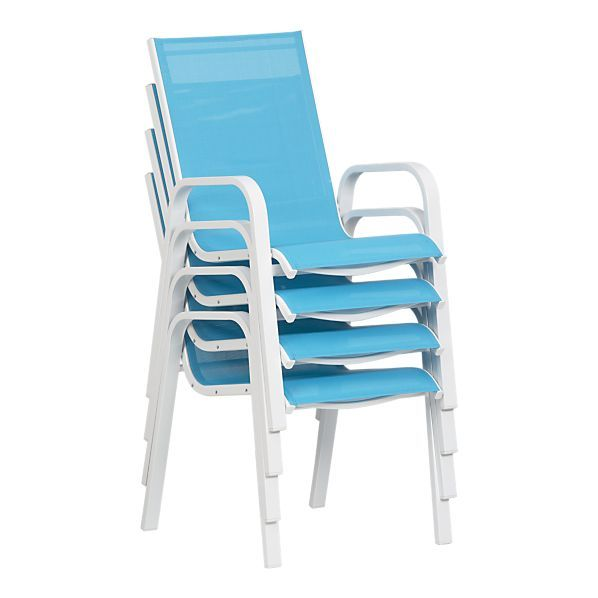 Stackable Patio Chairs Crate Amp Barrel Fancy Up My