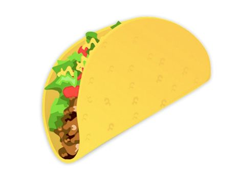 Attention The Taco Emoji Is Here To Fulfill Your Texting Needs Taco Clipart Taco Cartoon Tacos