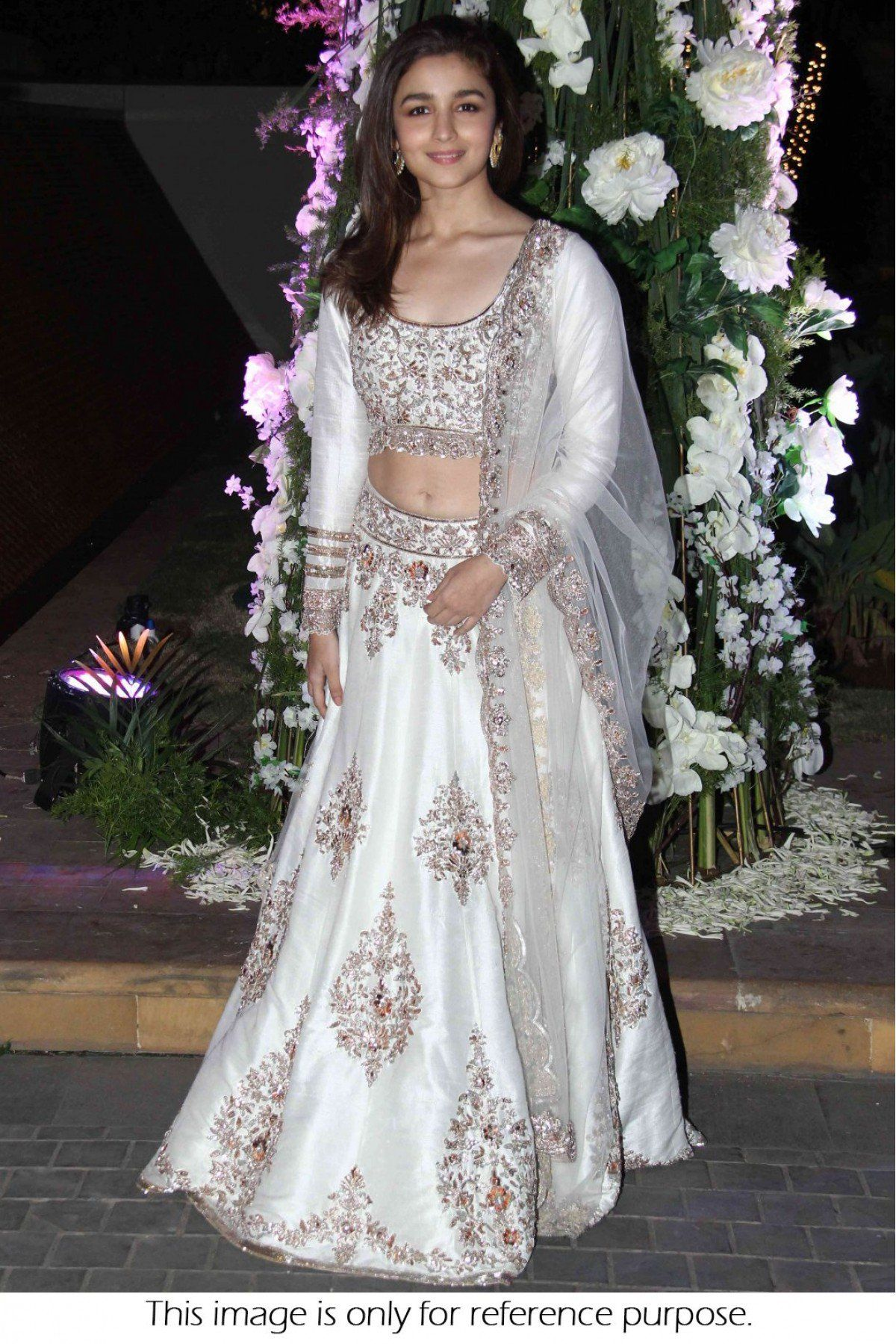 75fa983b6e Bollywood Style Alia Bhatt Net and Joya Silk Lehenga In White Colour NC1469
