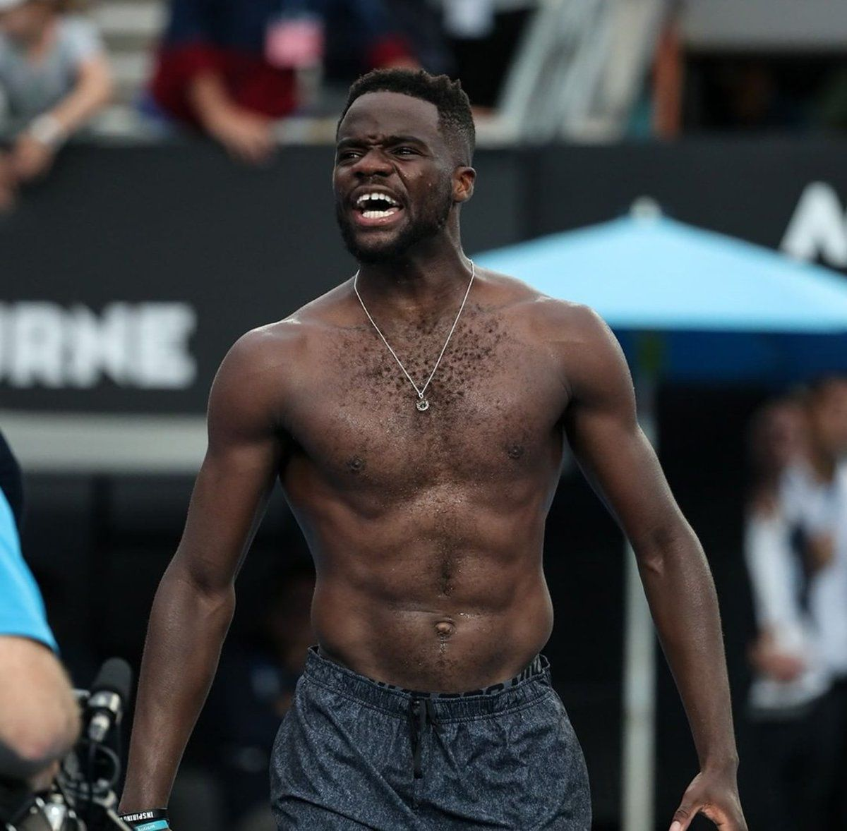 Frances Tiafoe Shows Off His Abs Body Muscles In Melbourne Australia Open 2019 Cubes Best Tennis Rackets Tennis Players Northern Territory