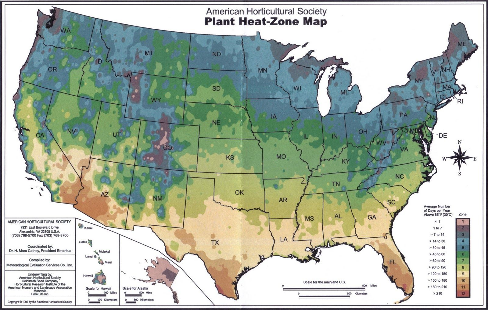 Plant Heat Zone Map Large Enough To See Thank You - Us planting map