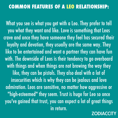 How are leos in a relationship