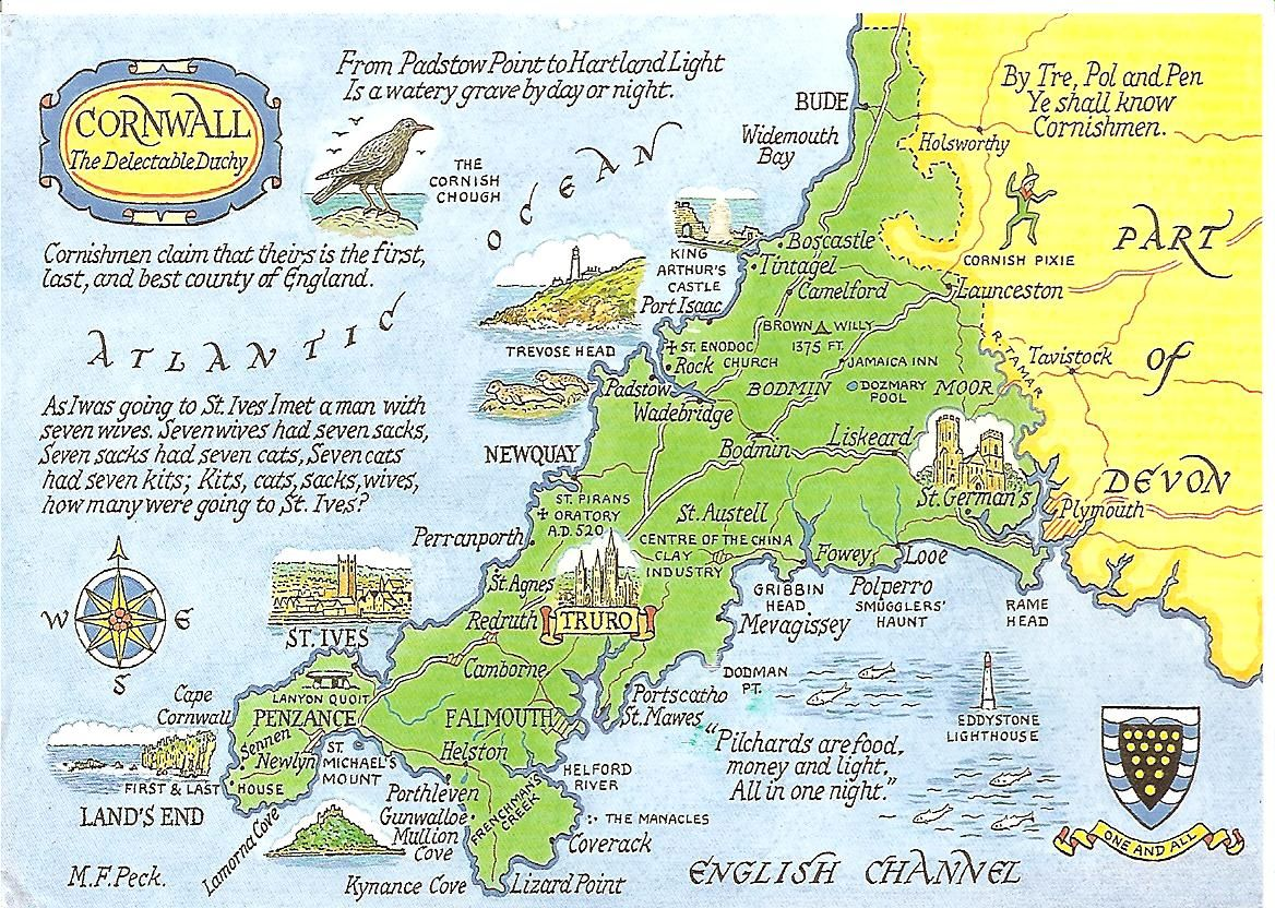 Map Of England Cornwall.Cornwall In South West England Offers A Host Of Wonderful Tourist