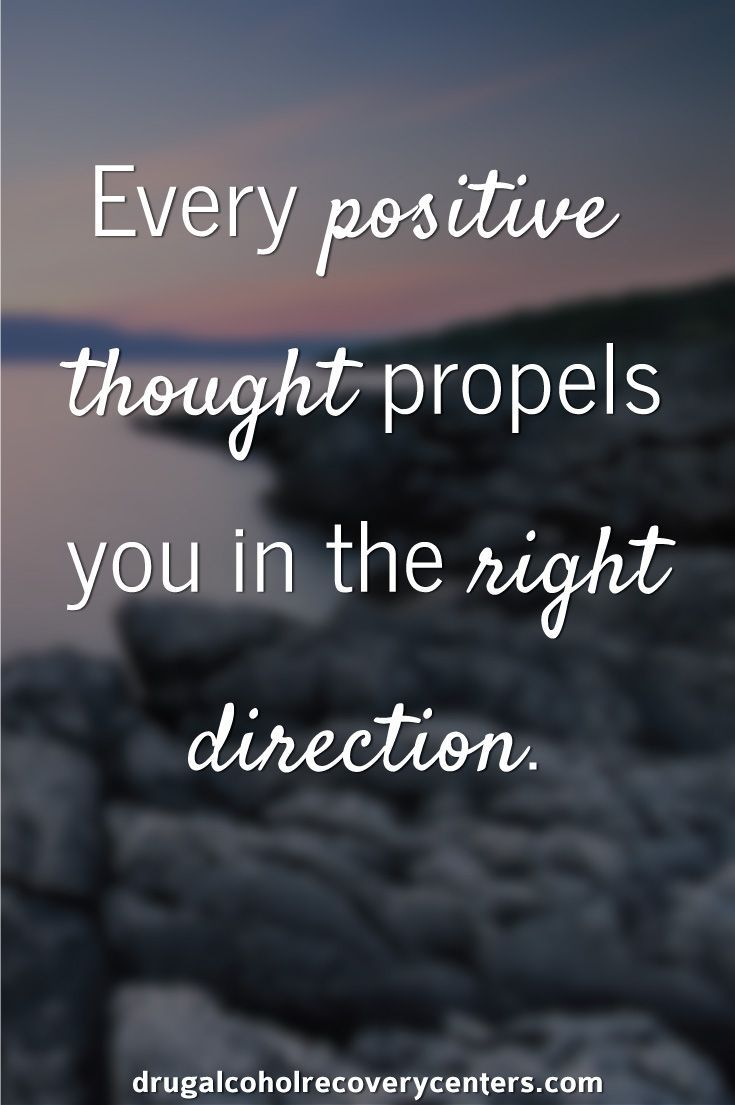 Thoughts Quotes Simple Motivational And Inspirational Quote Think Only About Positive