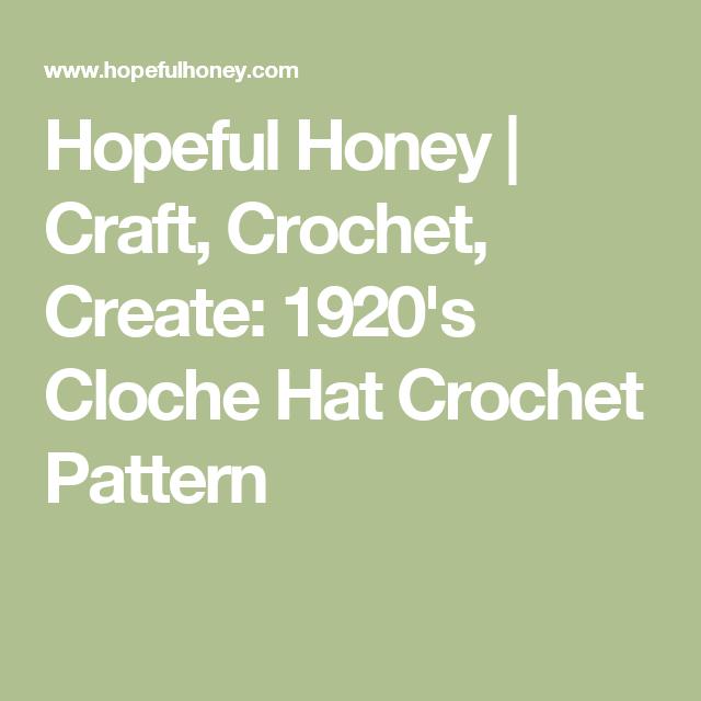 1920\'s Cloche Hat - Free Crochet Pattern