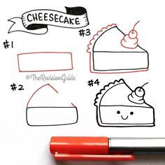 """Learn to doodle and letter on Instagram: """"Cheesecake 😍🍰🍰 More how to draw doodles at 👉 #TRG_RandomDoodle 😍 😍. . . . . . .  #doodleaday #howtodoodle #howtodraw #latte #latteart…"""""""