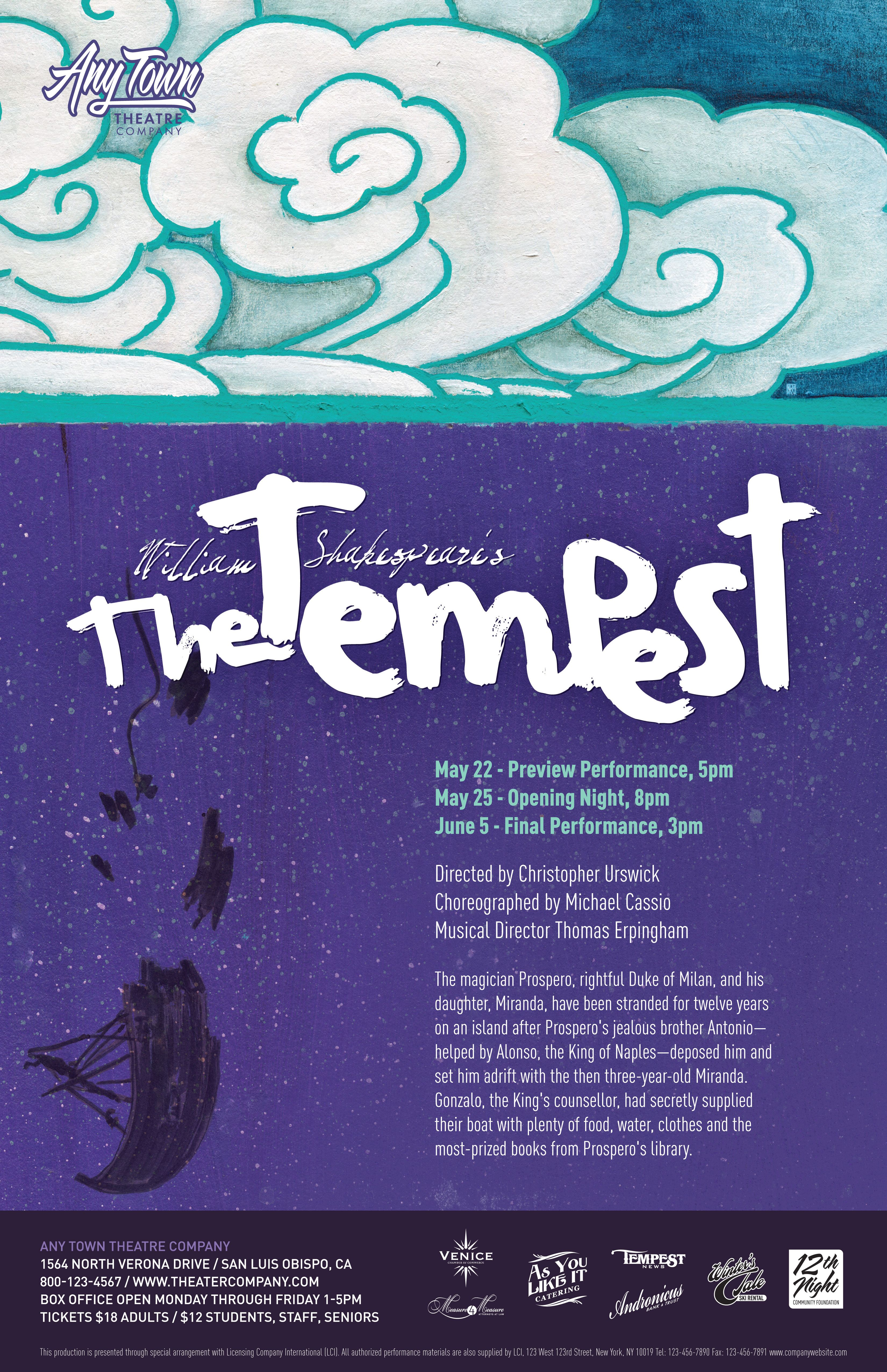 The Tempest Customizable Poster Layered Artwork Create Your
