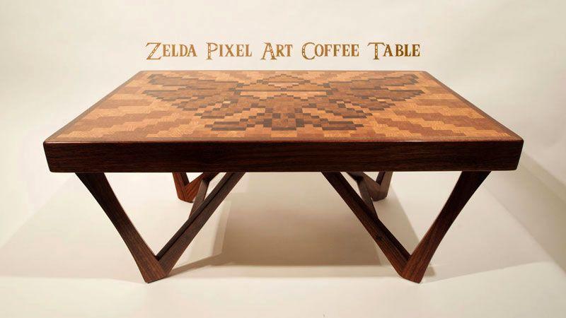 Zelda pixel coffee table geek stuff pinterest ado for Decoration maison geek